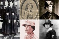 These are the first women of each military service: twin sisters Genevieve and Lucille Baker, and Myrtle Hazard, U.S. Coast Guard; Deborah Sampson, U.S. Army; Opha May Johnson, Marine Corps; Esther McGowin Blake, U.S. Air Force; Loretta Walsh, U.S. Navy (Defense Department)