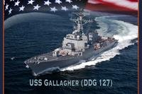 A graphic illustration of the future Arleigh-Burke class guided missile destroyer USS Gallagher (LCS 127). (U.S. Navy photo illustration/Raymond Diaz)