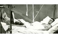 John Fogle was shot three times in Vietnam. Here, he recovers at the 249th General Hospital at Camp Drake, in Japan, where he underwent repairs to his severed femoral artery. (Image courtesy of John Fogle)