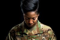 A U.S. Army Reservist poses for a portrait. (U.S. Army Reserve/Audrey Hayes)