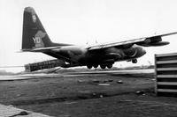 File photo shows a Vietnam-era C-130 aircraft in Khe Sanh in 1968. (Domonique Simmons/Air Force)