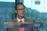 Professor Bruce Fleming appeared on C-SPAN in 2013. Screenshot