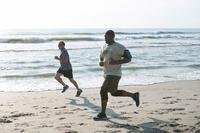 Members of Patrick Air Force Base and Cape Canaveral Air Force Station, Fla., participate in an Air Force Assistance Fund 5K run at the beach here April 29, 2016. (U.S. Air Force/Matthew Jurgens)