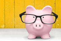 Piggybank with glasses