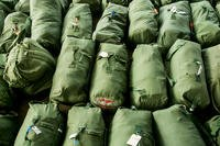 Bags are staged at Marine Corps Air Station Cherry Point, North Carolina. (U.S. Marine Corps/Cody J. Ohira)