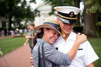 A mother embraces her son during Plebe Parents' Weekend at the U.S.Naval Academy in Annapolis. Maryland. (US Navy photo)