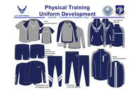 "A slide showing a possible update to the Air Force PT uniform was leaked to the Facebook page ""Air Force amn/nco/snco."" (Photo courtesy of Facebook)"