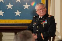 Retired U.S. Army Lt. Col. Charles Kettles was awarded the Medal of Honor July 18, 2016, for his actions while serving as a Flight Commander assigned to the 176th Aviation Company (Airmobile) (Light), 14th Combat Aviation Battalion, Americal Division. (U.S. Army photo/Tammy Nooner)