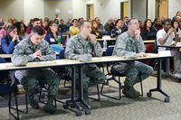 Air Force Members in Classroom