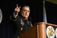 Army Gen. Mark Milley addresses the Congressional Staff Breakfast attended by about 300 military legislative assistants at the 2016 AUSA Annual Meeting, Washington, D.C., Oct. 4, 2016. (U.S. Army National Guard photo/Sgt. 1st Class Jim Greenhill)