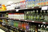 Shelves of alcohol at the Quantico Package Store, Marine Corps Base Quantico, Virginia. (Photo: Courtesy Semper Fit and Exchange Services Division)