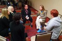 A support group meets at a Hearts of Valor retreat. Photo courtesy of Operation Homefront
