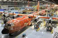 Super Hercules aircraft in factory