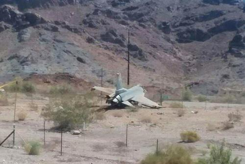 Photo of an F-16 Crash at Luke AFB, April 24, 2018. (Photo: Air Force amn/nco/snco Facebook page.)
